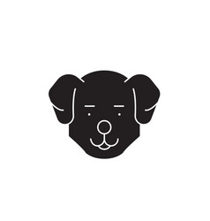 cute dog head black concept icon cute dog vector image
