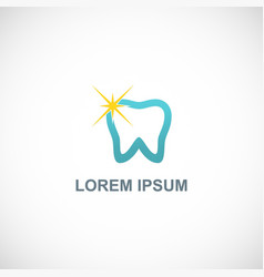 dental star logo vector image