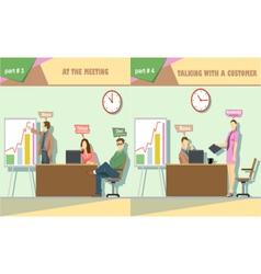 Digital company at the meeting vector
