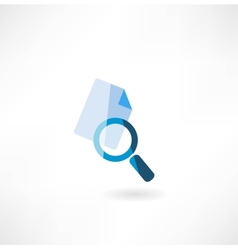 document with a magnifying glass icon vector image