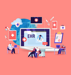 Ehr electronic health record patient character vector