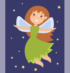 Fairy princess adorable character imagination vector