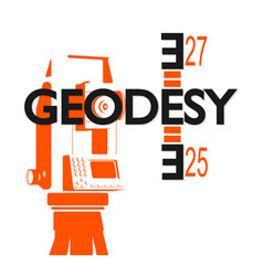 geodesy symbol for business vector image vector image