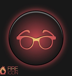 Glasses Icon eyeglasses sign vector image vector image