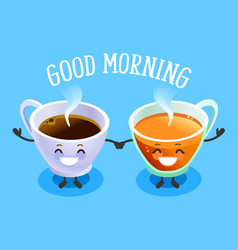 Good morning sign drink symbol vector