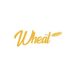 Grain wheat logotype barley icon oat logo rice vector