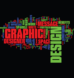 Graphic design text background word cloud concept vector