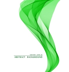 Green wavy abstract background vector image