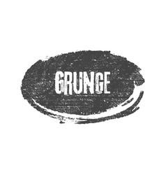 grunge black ellipse brush shape vector image