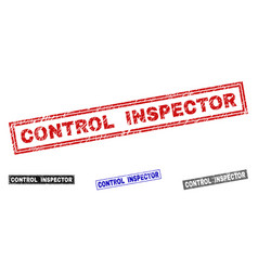 grunge control inspector scratched rectangle vector image