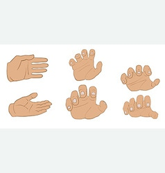 Hands in different angles vector
