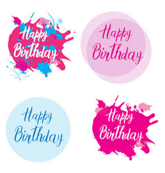Happy birthday card with handmade letters vector