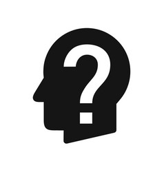 human head profile with question mark perplexity vector image