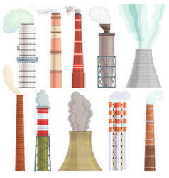 Industry factory industrial chimney vector