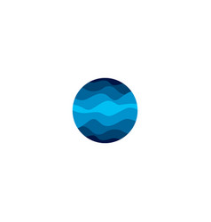 Isolated abstract blue color round shape logo on vector