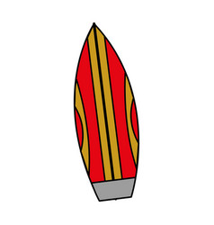 isolated surfboard design vector image
