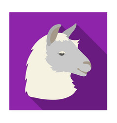 Lama icon in flat style isolated on white vector