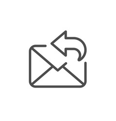 mail reply line outline icon vector image