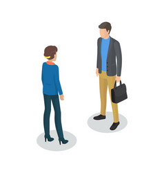 Manager and man meeting set vector