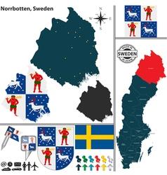 Map of Norrbotten vector