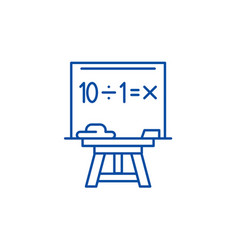 maths line icon concept maths flat symbol vector image