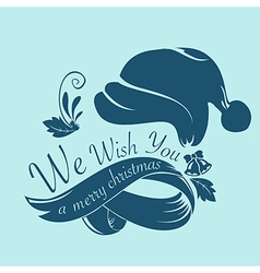 Merry christmas text isolated on background vector image