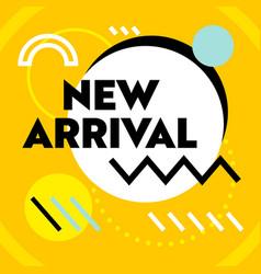 new arrival banner for social media marketing vector image