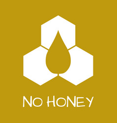 No honey label food intolerance symbols vector