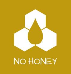 no honey label food intolerance symbols vector image