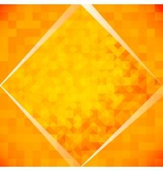 Orange mosaic tiles vector
