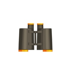 Pair Of Black Binoculars vector image vector image