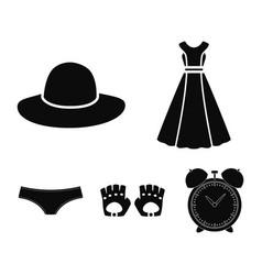 panties gloves dress hat clothing set vector image