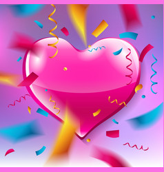 Pink heart on pink background vector
