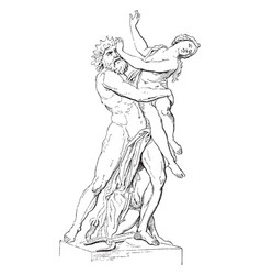 Pluto and proserpina by bernini in the villa vector
