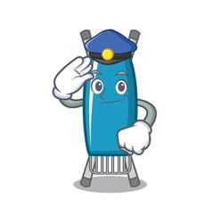 Police iron board character cartoon vector