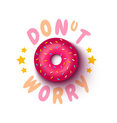 poster with donut vector image