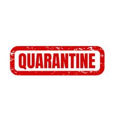 quarantine text isolated white background vector image