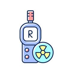 Radiation dosimeter rgb color icon vector