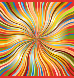 Rainbow abstract background with wavy sunbeams vector