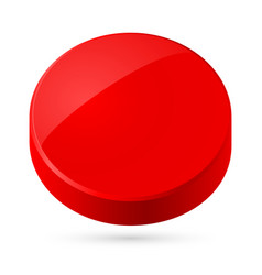 Red disk isolated on white background vector