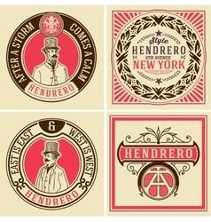 retro designs set vector image