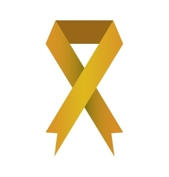 ribbon banner commemorates yellow design icon vector image