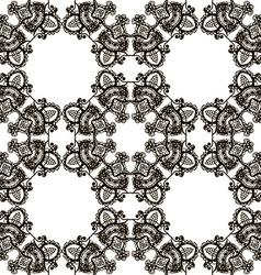 Round henna mehendi drawing mandalas drawn vector image