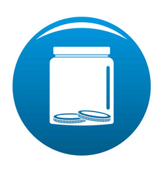 save money icon blue vector image