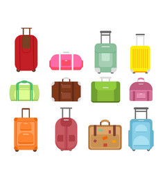 set different types bags vector image