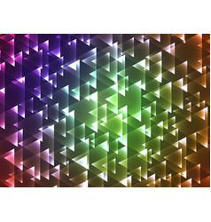 set triangulars background vector image