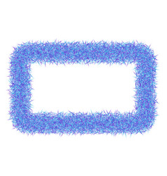 Shaggy abstract frame on white background vector