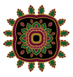 Simple floral ornament vector