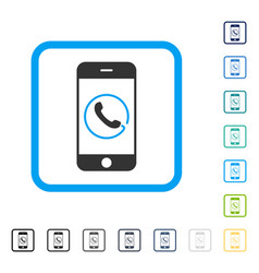 Smartphone phone framed icon vector