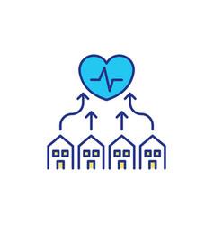 special medical facilities rgb color icon vector image